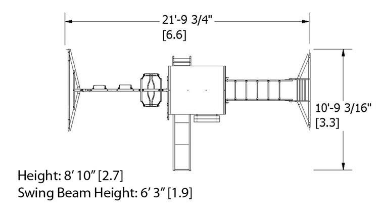 Prairie Ridge Swing Set Dimensions