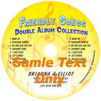 Double Name or Double Album Personalized Music CD