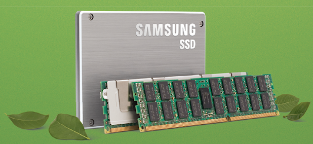 Samsung Green SSD's and memory