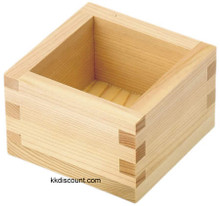 Japanese Square Wooden Sake Tea Cup
