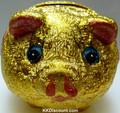 Lucky Gold Piggy Bank