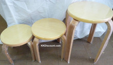 Round Stackable Wooden Stool