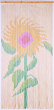Bamboo Sunflower Beaded Door Curtain