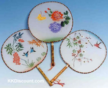 Round Silk Screen Hand Fans