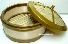 5 inch Plastic Rim Bamboo Steamer