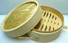 Small Bamboo Steamer with Handle Set