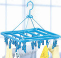 Folding Clothespins Clothing Hanging Rack