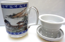 Landscape Mug with Strainer
