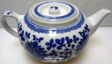 Flower Flat Tea Pot