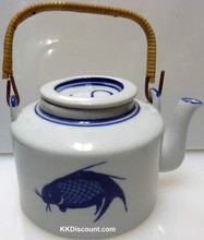 Blue Fish Tea Pot