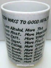 Ten Ways to Good Health Cup