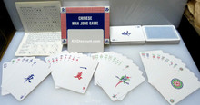 Chinese Mahjong Game Playing Cards