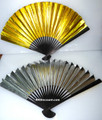 Gold Silver Paper Hand Fan