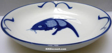Blue Carp Fish 8 Inch Large Dish