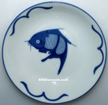 Blue Carp Fish 6 Inch Dish