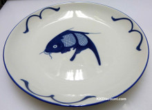Blue Carp Fish 9 Inch Large Dish