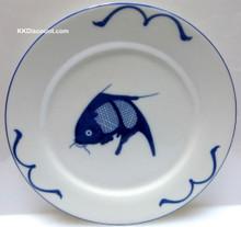 Blue Carp Fish 10 Inch Plate