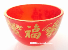 Red Plastic Dragon Phoenix Wine Cup