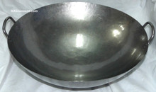 20 Inch Carbon Steel Two Handles Wok Top View
