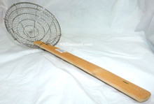 8 Inch Stainless Steel Basket Spider Skimmer with Bamboo Handle