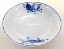Modern Blue Koi Fish 4 Inch Large Sauce Dish