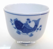 Modern Blue Koi Fish Tea Cup