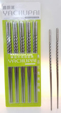 Twist Design Stainless Steel Chopsticks Pack