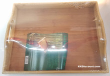 Natural Bamboo Rectangular Serving Tray