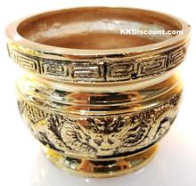 Brass Color Metal Joss Incense Holder Pot