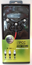 3 in 1 Iphone Android Type-C 4FT USB Cable