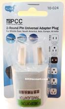 2 Round Pin Universal Adapter Plug