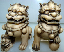 Ivory Guardian Lions Foo Dogs Figures