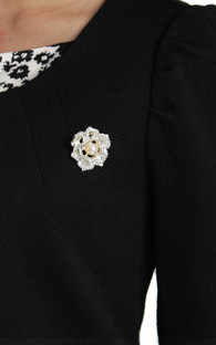 Crystal Rose Brooch | ALYSSANDRA | Singapore Online Office Wear, Executive Work Clothes