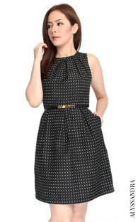 Gathered Neckline Dress - White | Singapore Online Shop for Work Dresses | ALYSSANDRA