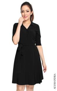 Classic Wrap Dress - Black