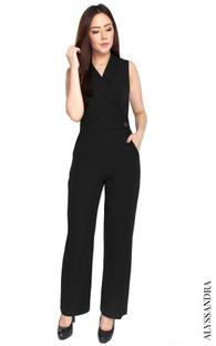 Tuxedo Jumpsuit - Black