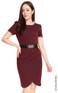 Pleated Tulip Dress - Wine