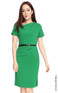 Asymmetrical Origami Dress - Emerald