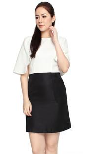 Cape Dress - White