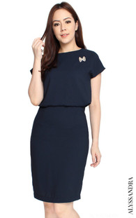 Blouson Work Dress - Midnight Blue