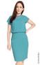 Blouson Work Dress - Dusty Turquoise