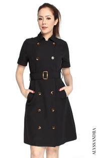 Classic Trench Dress - Black