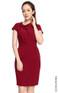 Asymmetrical Draped Crepe Dress - Burgundy