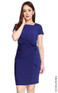 Side Tie Jersey Dress - Indigo