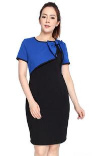 Bow Bolero Dress - Blue
