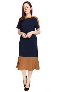 Drop Hem Midi Dress