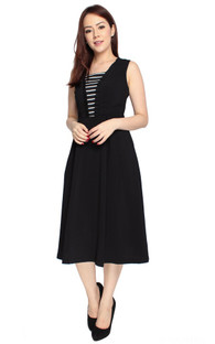 Duo Fabric Midi Dress