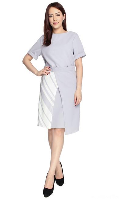 Asymmetrical Wrap Front Dress