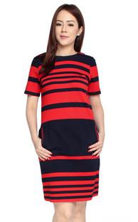 Gradient Stripes Shift Dress