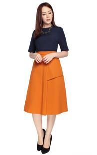 Colourblock Flare Dress